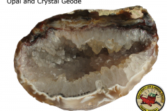 Opal and Crystal Geode